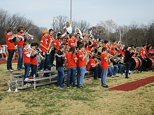 Webster Groves High School - Webster Groves High School marching band at the 2012 Turkey Day game vs Kirkwood at Moss Field.