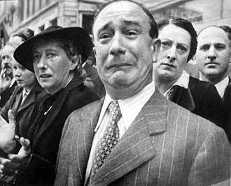 Crying - A Frenchman sheds tears of patriotic grief (1941).