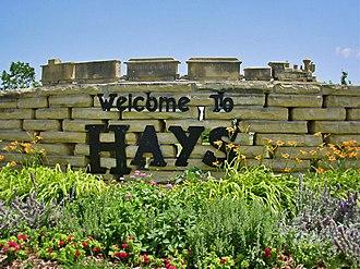 Hays, Kansas - Image: Welcome to the City of Hays, KS