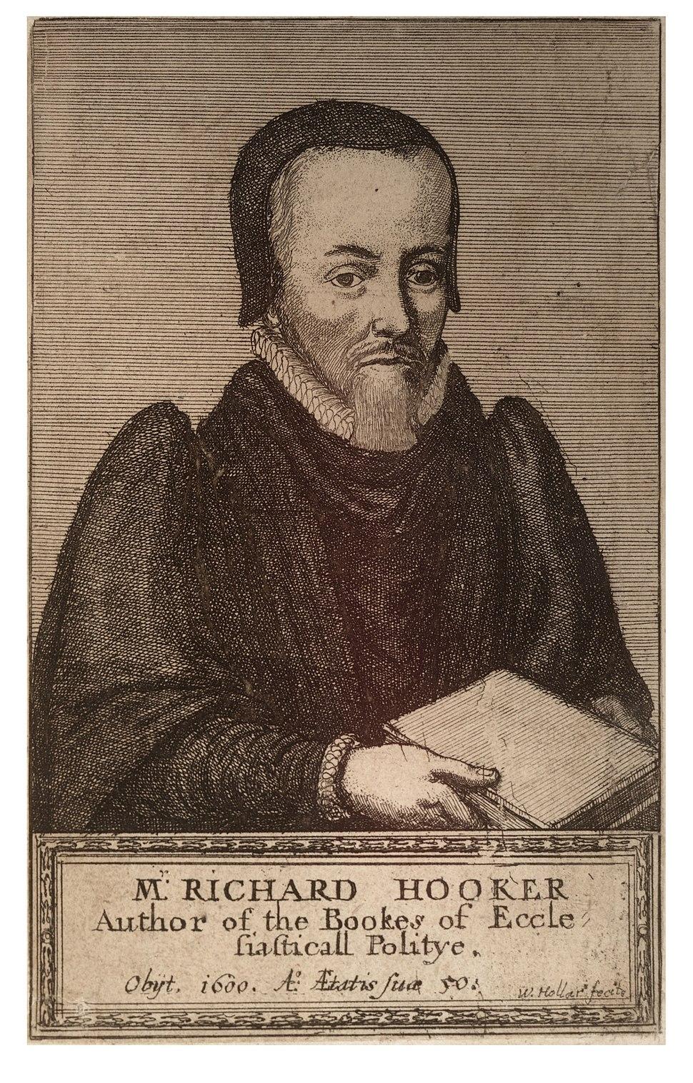 Wenceslas Hollar - Richard Hooker (State 1)