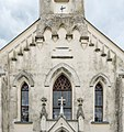 Wernberg Foederlach Filialkirche hl Stephan West-Wand Spitzbogenfenster 09102015 8063.jpg