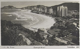Vista da praia - Guarujá - Brasil