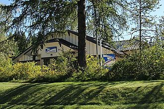 West Glacier, Montana - U.S. post office at West Glacier