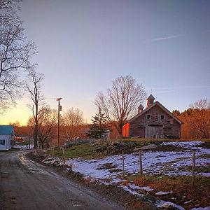Westford, Vermont - Dirt road in rural Westford