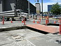 Westlake Ave. cut open to lay trolley tracks 01.jpg