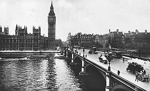 Portcullis House - Buildings on the site of Portcullis House (centre) in 1928