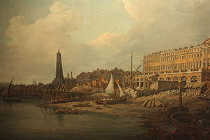 William Marlow - Westminster waterfront by William Marlow, 1771