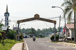 Weston, Sabah - The main gate to Weston town.