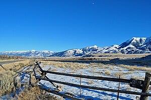 Paradise Valley (Montana) - Paradise Valley and Absaroka Range