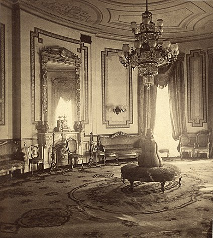 Clockwise From Upper Left A Stereograph View Of The Blue Room During Administration President Ulysses S Grant McKim Mead And White Renovation