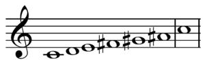 Jazz scale - Image: Whole tone scale on C