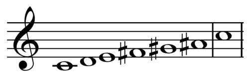 Whole tone scale on C.png