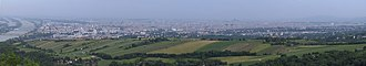 Leopoldsberg - Panoramic view of Vienna from Leopoldsberg