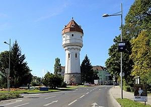 Der Wasserturm, Wahrzeichen von Wiener Neustadt