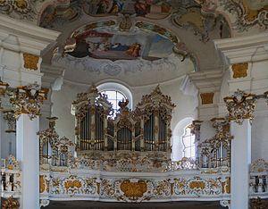 Dominikus Zimmermann - Wieskirche.- Pipe organs