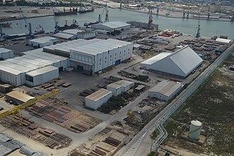 Israel Shipyards - Aerial View of Israel Shipyards June 2013