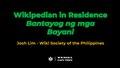 Wikipedian in Residence at the Bantayog ng mga Bayani.pdf