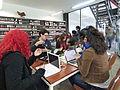 Wikipedistas trabajando en el Editatón 'Wikipedia ama el cine' 12.JPG