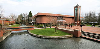 Willamette University - Hudson's Bay and the Mill Race that runs through campus