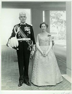 William Morrison, 1st Viscount Dunrossil - Dunrossil and his wife in Canberra