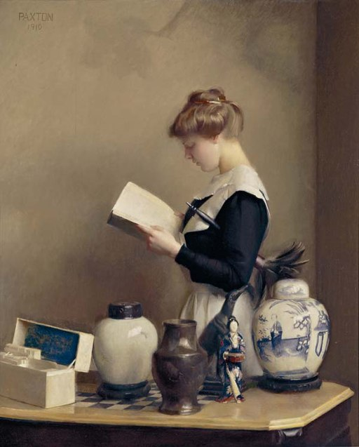"""The House Maid"" by William McGregor Paxton – Joy of Museums Virtual Tours"