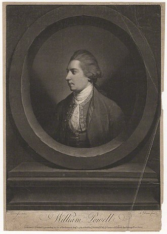 William Powell (English actor) - William Powell, 1769 engraving by John Dixon, after Thomas Lawranson
