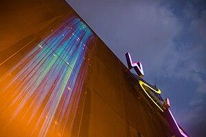 Andrea Polli - Image: Wilma Theatre 2013 Particle Falls 004