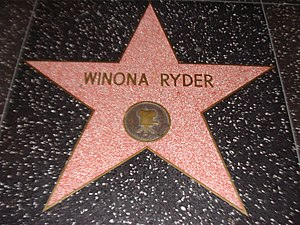Winona Ryder - Ryder received a star on the Hollywood Walk of Fame on October 6, 2000.
