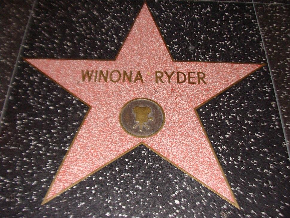 Winona Ryder Walk of Fame