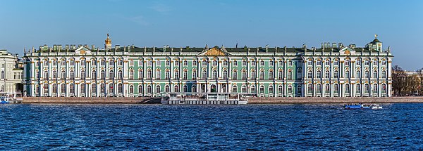 Winter Palace in Saint Petersburg, viewed from Palace Embankment