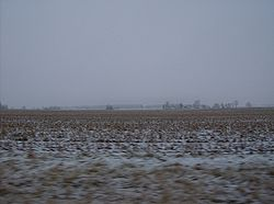 Snow-covered countryside in Jackson Township
