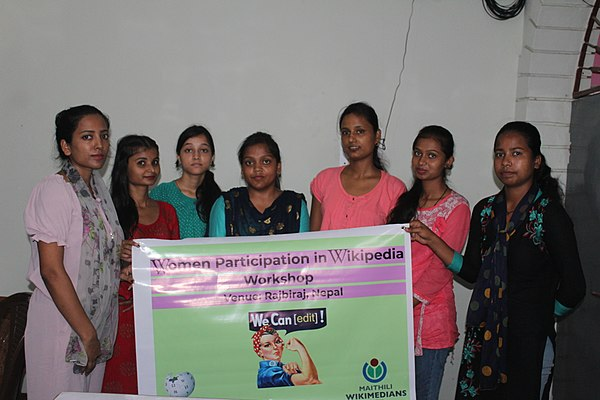 Group Photo of Women Participation in Wikipedia Workshop.