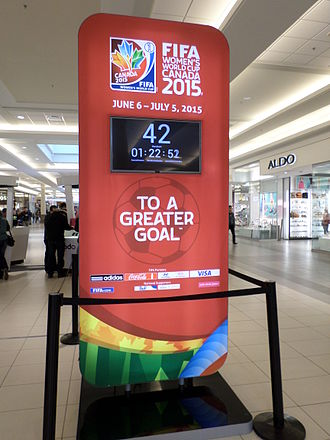 Countdown - 2015 FIFA Women's World Cup countdown at Champlain Place, Dieppe, New Brunswick