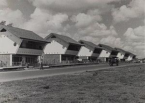 Kebayoran Baru - Post-war houses in Kebayoran.