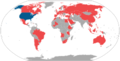 World map of international trips made by Warren Christopher as United States Secretary of State.png