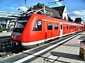 Wormser Hauptbahnhof- auf Bahnsteig zu Gleis 2- Richtung Ludwigshafen (RE 612 126) 20.7.2009.JPG