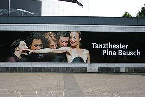 Pina Bausch - Poster in front of SchauspielhausWuppertal, 2008