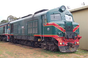 WAGR X class - Preserved XA1401 at the Hotham Valley Railway in July 2011