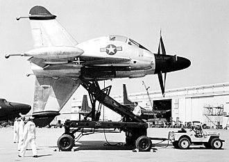 Convair XFY Pogo - XFY on a launching cart