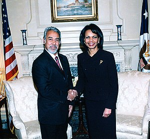 Falintil - Former resistance fighter and former Prime Minister of East Timor Xanana Gusmão in 2006 with Condoleezza Rice.