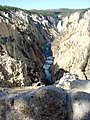 Yellowstone N.P., Lower Falls and Rapids, Grand Canyon of Yellowstone 9-2011 (6911246271).jpg