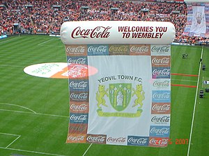 Yeovil Town F.C. - Image: Yeovil Flag at Wembley