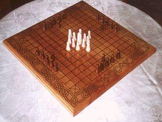 Tafl games - A reconstructed Hnefatafl gameboard