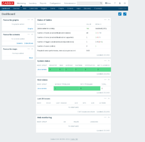 Zabbix 3.0 dashboard