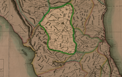 Province of Zacatecas including Aguascalientes, early 19th Century period map. Zacatecas-1819.png