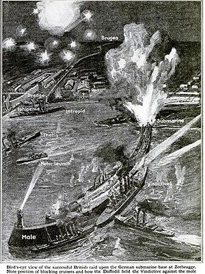 Zeebrugge Raid - Image: Zeebrugge Raid graphic