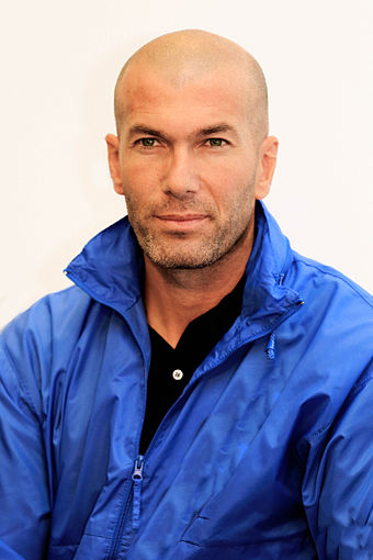 Zinedine Zidane was named the best European footballer of the past 50 years in a 2004 UEFA poll. Zidane Zizu.jpg