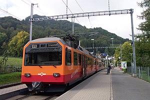 Zürich Triemli railway station - The station with a terminating train in the platform