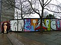 """""""Graffiti"""" on the old Zurich building (2) - geograph.org.uk - 2275879.jpg"""