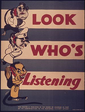 """Look who's listening"" - NARA - 514907"